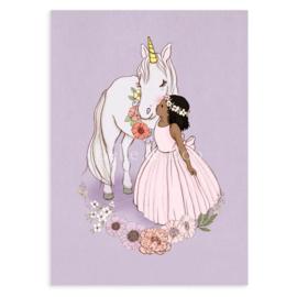 Belle & Boo ansichtkaart Unicorn kiss