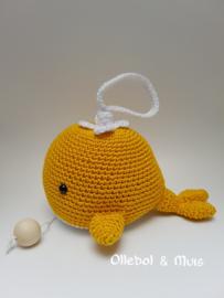 Muziekdoosje walvis oker geel