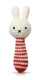 Rattle Miffy red stripe
