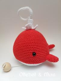 Music box whale red
