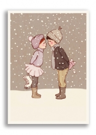 Belle & Boo postcard Winter kiss