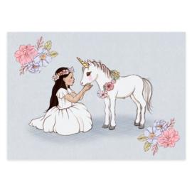 Belle & Boo ansichtkaart Baby Unicorn