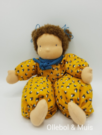 Soft doll Slappe Lijs  ocher yellow brown hair