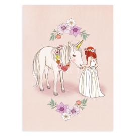 Belle & Boo ansichtkaart Hello Unicorn