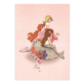 Belle & Boo postcard Mermaid Rock