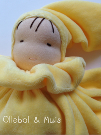 Yellow butterfly doll