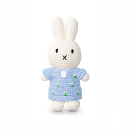 Miffy and her soft blue tulip dress
