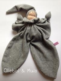 Grey butterfly doll