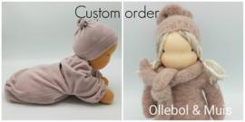 Custom order Heavy baby Waldorf pop en knuffelpopje