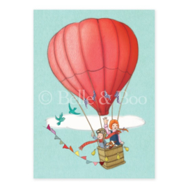 Belle & Boo postcard Balloon adventure