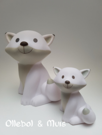Mini money box Fox Cesar white