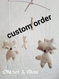 Custom order 2 muziekmobielen