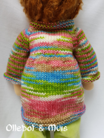 """Hand knitted doll coat 15-17"""""""