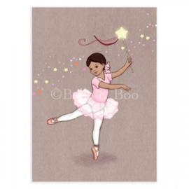 Belle & Boo ansichtkaart Ballerina