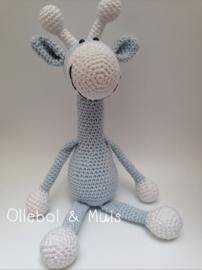 Crochet giraf baby blue