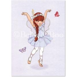 Belle & Boo ansichtkaart Butterfly Girl