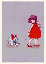 Belle & Boo postcard Elephant