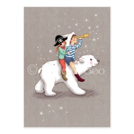 Belle & Boo postcard Polar Adventure