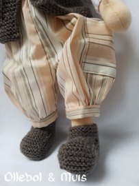 Dungerees, kina and boots waldorf doll 14 inch