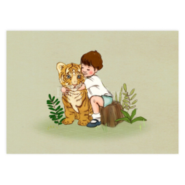 Belle & Boo ansichtkaart  Tiger Cub