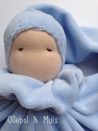 Light bleu butterfly doll