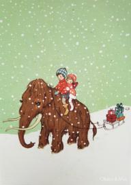 Belle & Boo ansichtkaart Mammoth