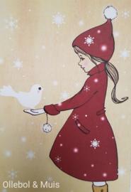 Belle & Boo ansichtkaart Elle & The Snowdove