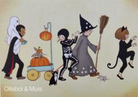 Belle & Boo ansichtkaart  Halloween Parade