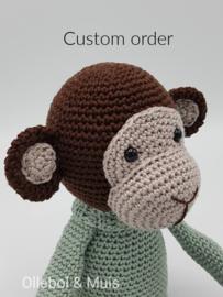 Custom order muziekdoosje aapje