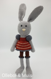 Crochet bunny earth tones