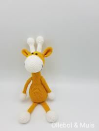 Gehaakte giraf oker geel