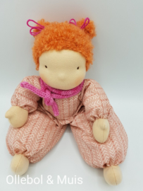 Soft doll Slappe Lijs pink red hair