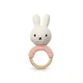 Miffy teether / rattle soft roze