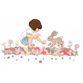 Belle's Meadow wall sticker
