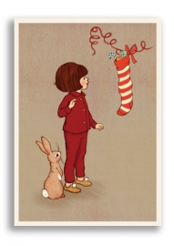 Belle & Boo postcard Christmas Stocking