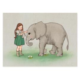Belle & Boo ansichtkaart Baby Elephant