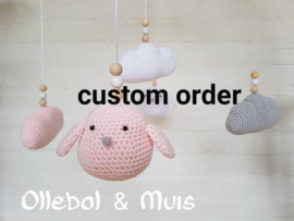 Custom order  gehaakte items babykamer