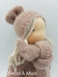 Waldorf style cuddle doll mohair