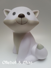 Money box Fox Cesar white