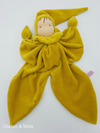 Butterfly doll ochre / mustard yellow