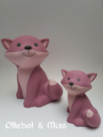 Mini money box Fox Cesar framboise