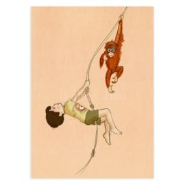 Belle & Boo ansichtkaart Orangatan
