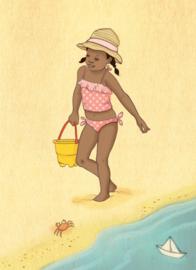 Belle & Boo Postkarte Beach Day