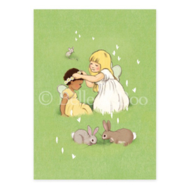 Belle & Boo postcard Daisy Chain Friends