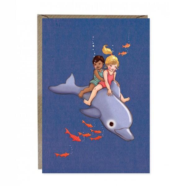 Wenskaart Belle & Boo Dolphin Adventure