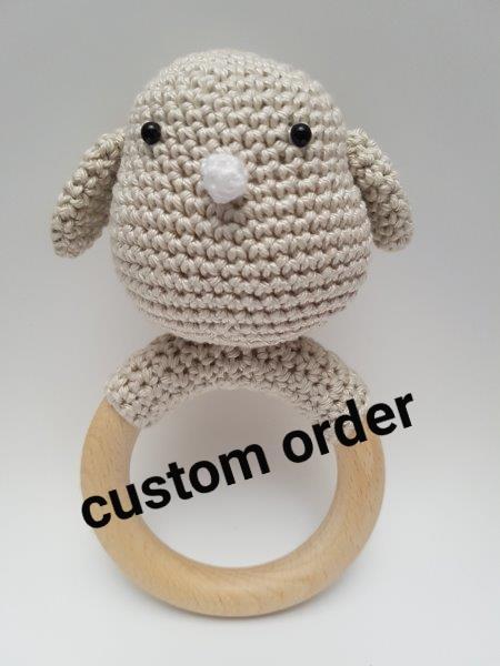 Custom order rammelaar vogeltje