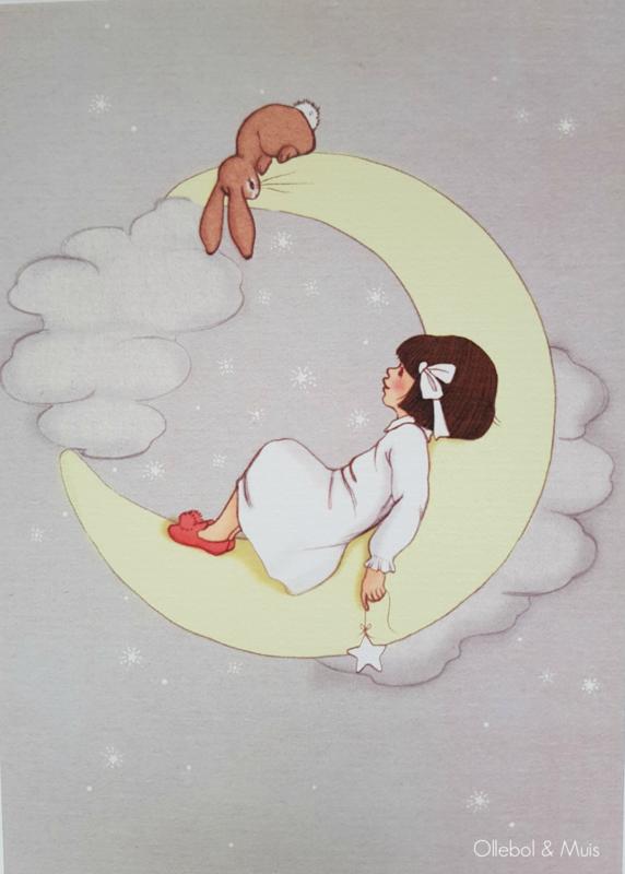 Belle & Boo ansichtkaart Moon