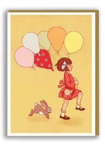 Greeting Card Belle and Boo Balloons