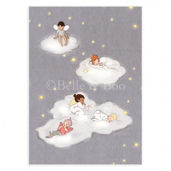 Belle & Boo ansichtkaart Sleeping Fairies