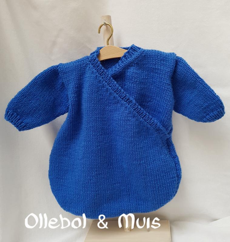 "Hand knitted sleeping bag Waldorf doll max. 15"""